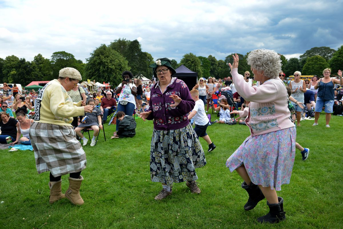 From July 2019 at Black Country Musicom are the dancing grannies, called the Fizzogs