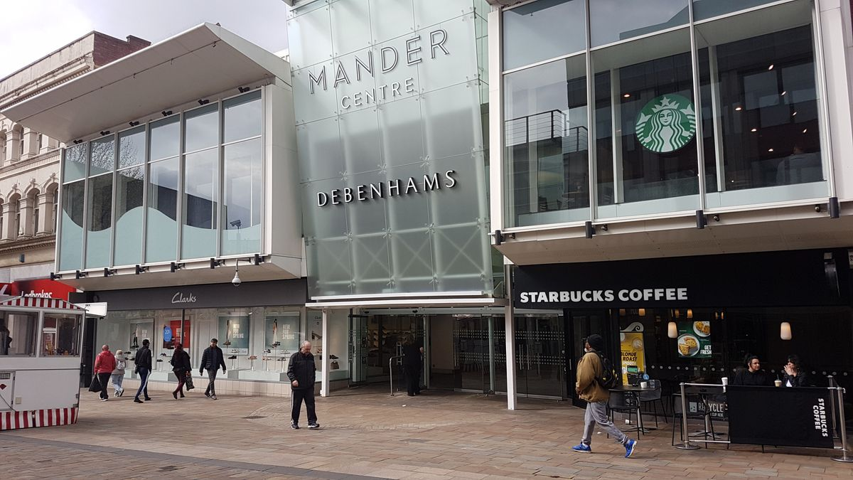 What would be the impact on Mander Centre of the closure of Debenhams?