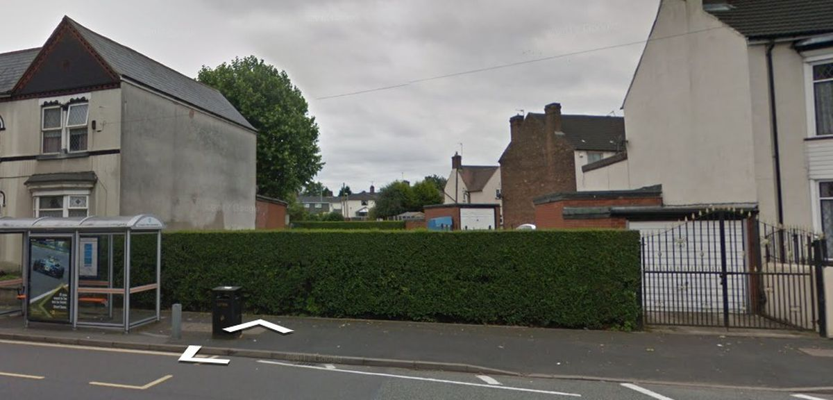 The vacant land on Wellington Road, Bilston, which has been earmarked for eight new flats. Photo: Google Maps
