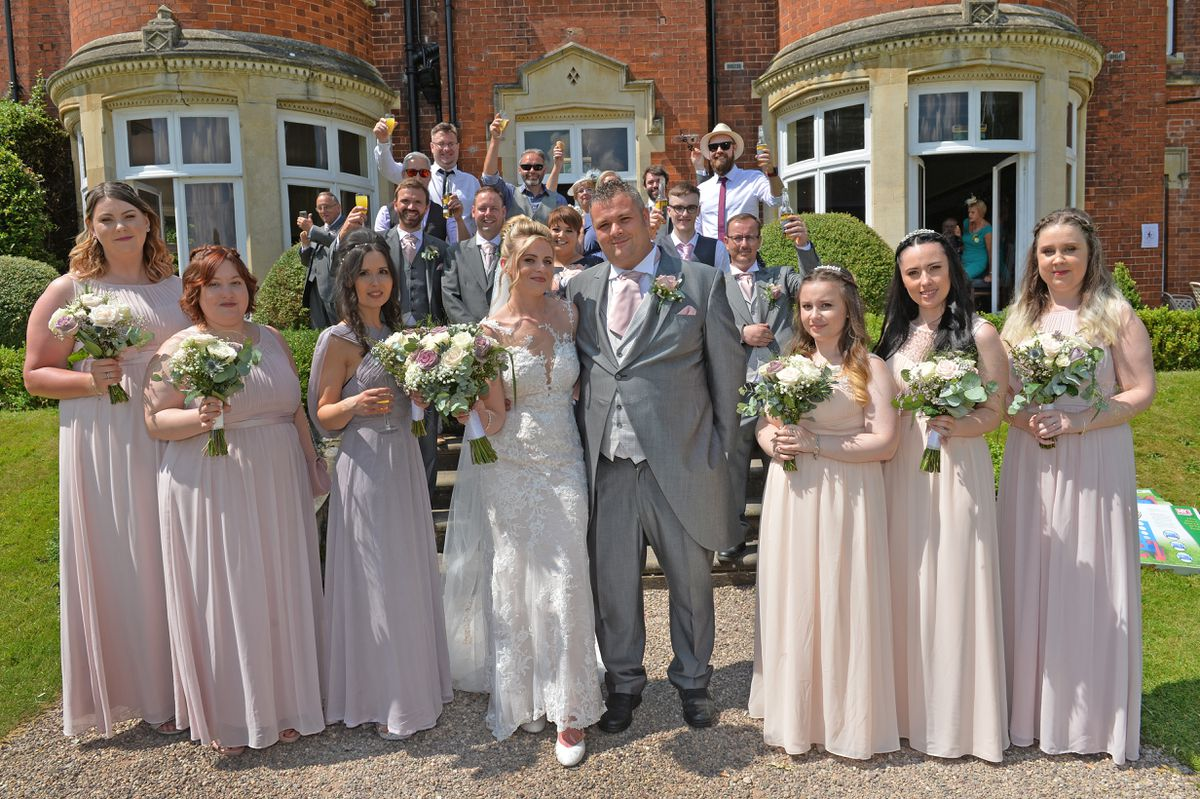 Alan and Victoria Whitehouse celebrate their wedding with 100 friends and family