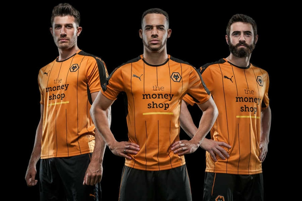 52cf5aa6e The kit is the first to include Wolves  controversial new Money Shop  sponsor