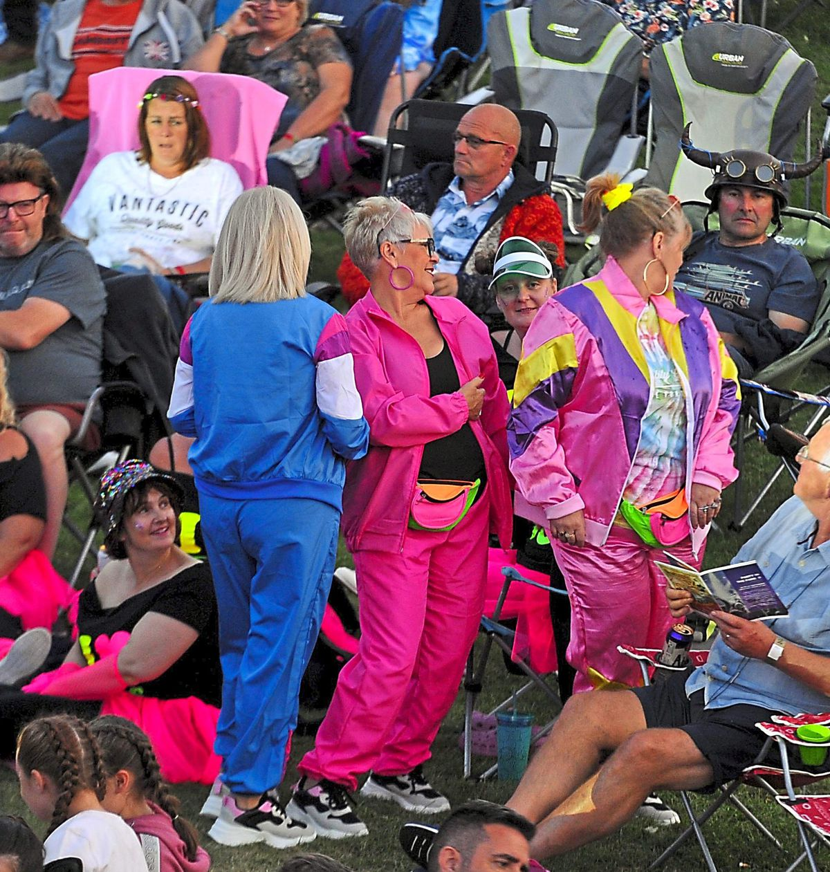 Crowds were getting into the spirit of the 1980s day
