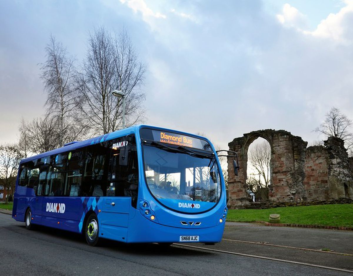 One of the new fleet of Diamond Buses in Dudley
