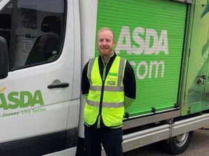 Asda home shopping driver, Dean Reilly