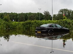 West Midlands weather: Downpours leave cars stranded in flood water