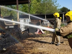 Firefighters tackle muck heap fire in South Staffordshire