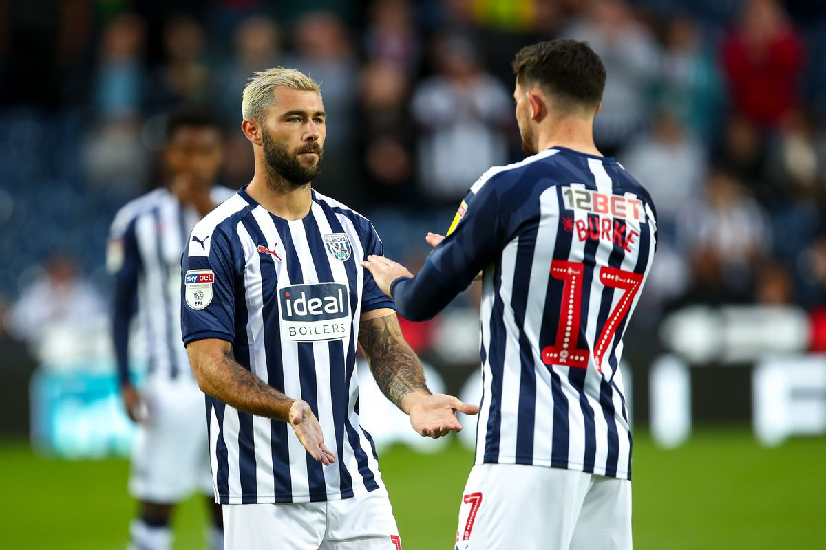 Charlie Austin of West Bromwich Albion and Oliver Burke of West Bromwich Albion. (AMA)