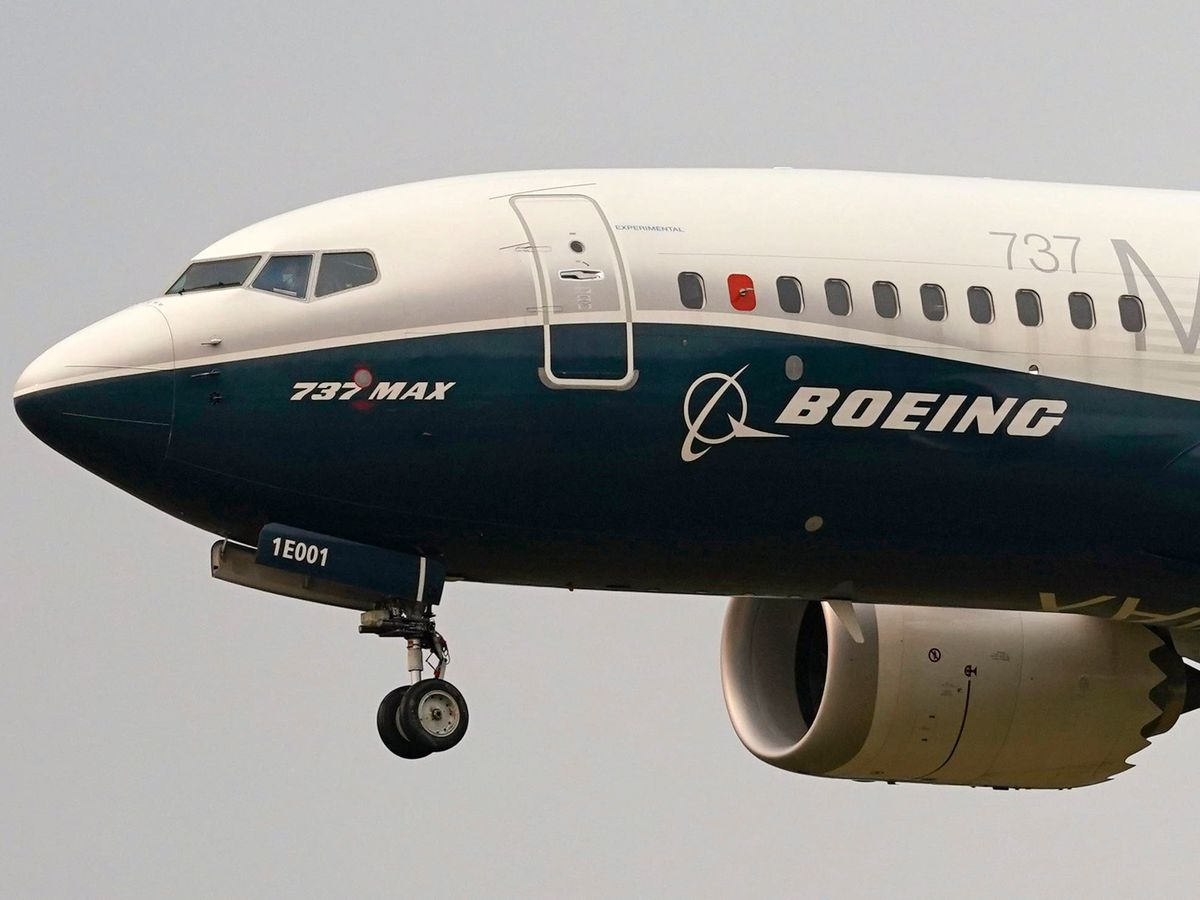 A Boeing 737 Max jet