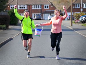 DUDLEY COPYRIGHT EXPRESS&STAR TIM THURSFIELD 12/03/21.Anna Eeles is doing a 3.5k run everyday in March to help raise money for the Georgina Unit at Russells Hall. Local musician Billy Spakemon will be joining her on some runs, as he raises money for the same cause..