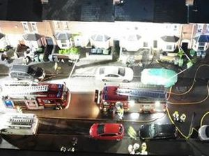 Drone footage helped in the operation. Photo: West Midlands Fire Service.