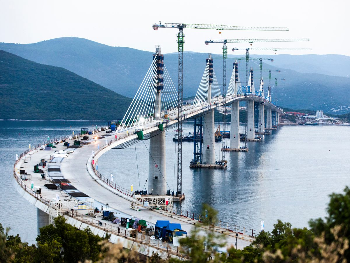 The new bridge in Croatia