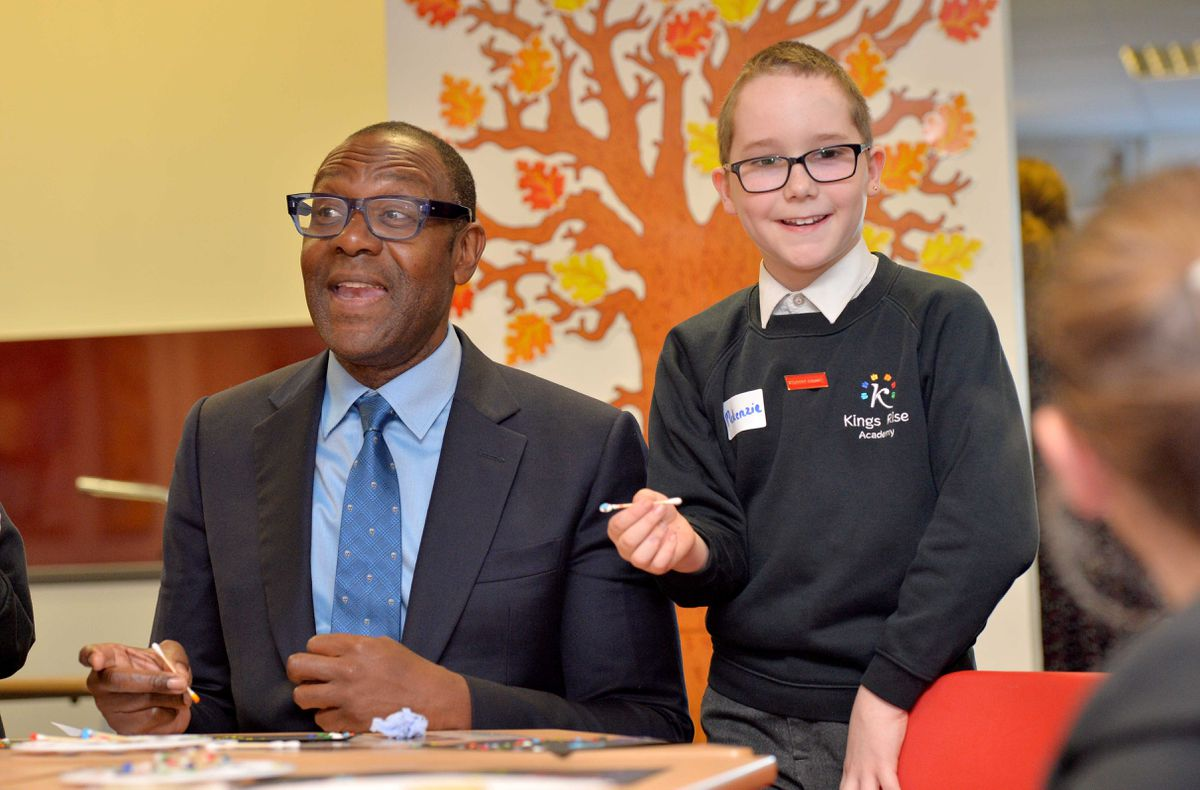 Sir Lenny Henry helped with an art session