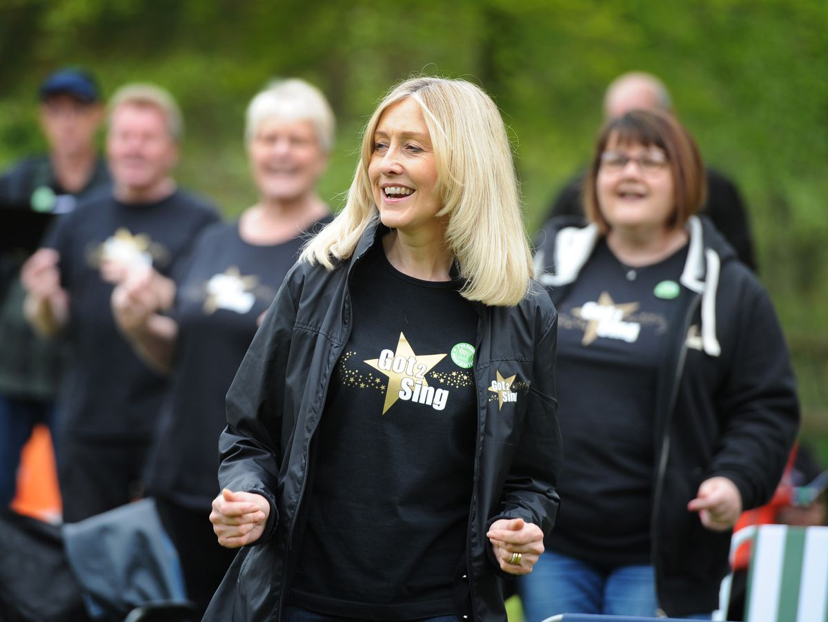 Tracey Payne was among the Got 2 Sing members rehearsing at Bodenham Arboretum, Kidderminster