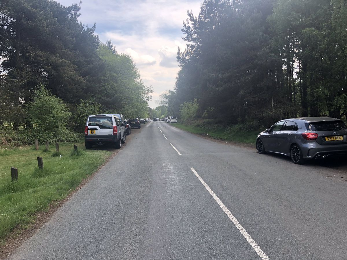 Cars parked on Cannock Chase. Photo: Rob Marsh