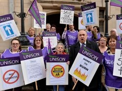 Unison workers protest Staffordshire County Council cuts