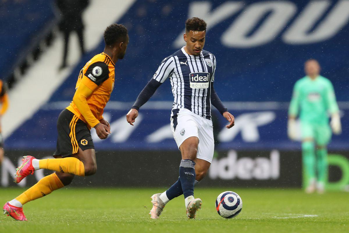 Romain Saiss of Wolverhampton Wanderers and Matheus Pereira of West Bromwich Albion. (AMA)