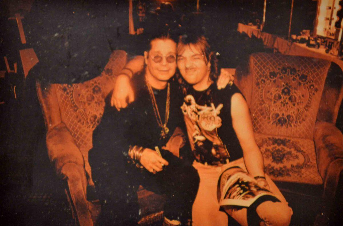 Steve Knowles with Ozzy Osbourne
