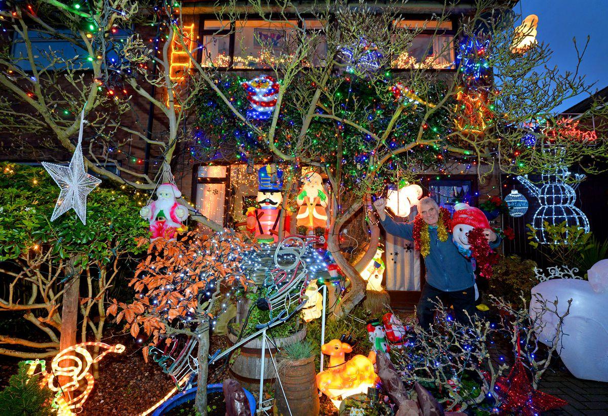 The Christmas lights display in Rushall