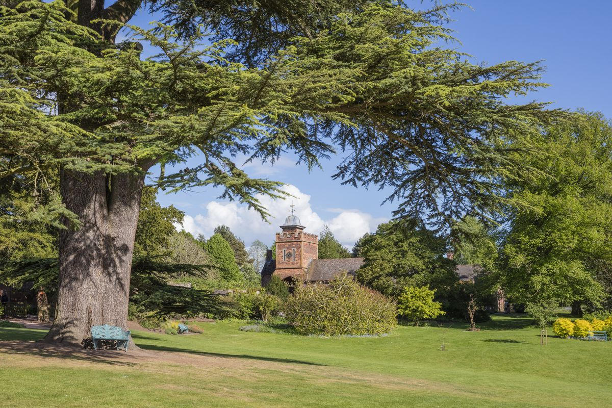 The stable yard and clock tower at Dudmaston, Shropshire