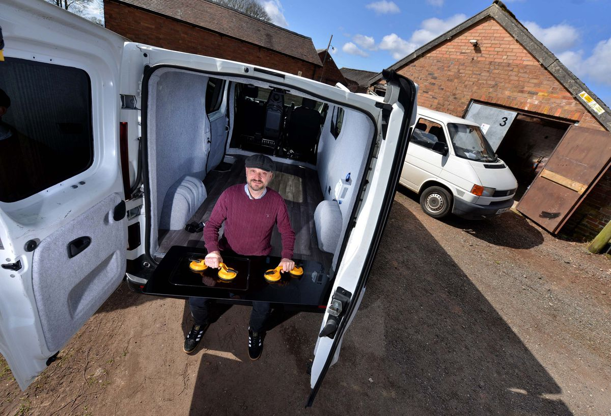 Nick Smith pictured with one of the vans he is converting