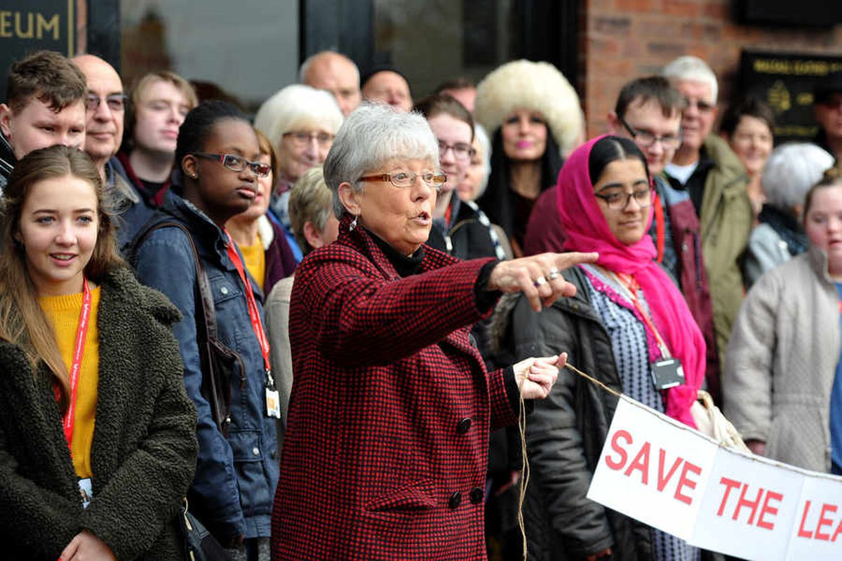 Walsall Council cuts: Dozens protest outside Leather Museum