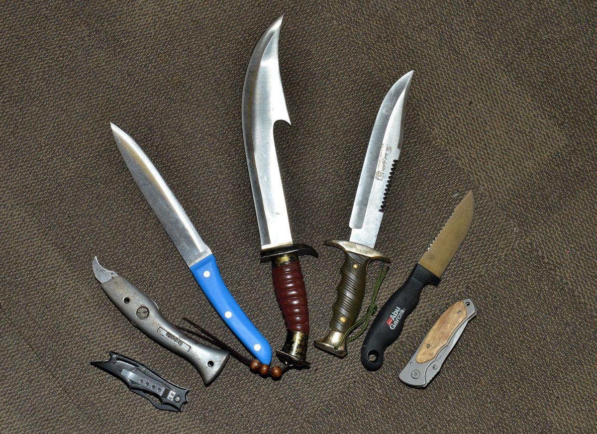 Some of the knives recovered