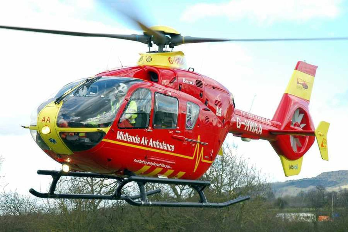 Mountain biker airlifted after fall in Staffordshire woodland