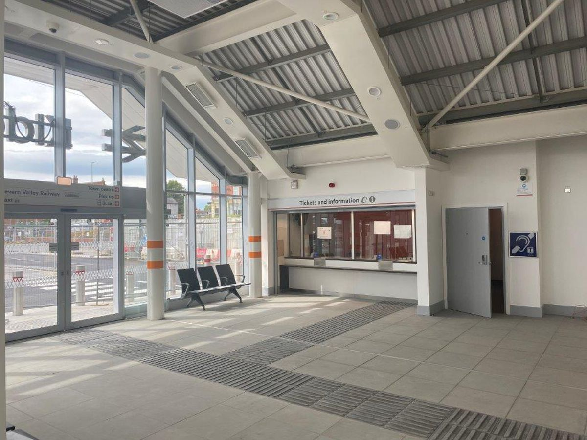 The new Kidderminster train station building is to open to passengers on June 7