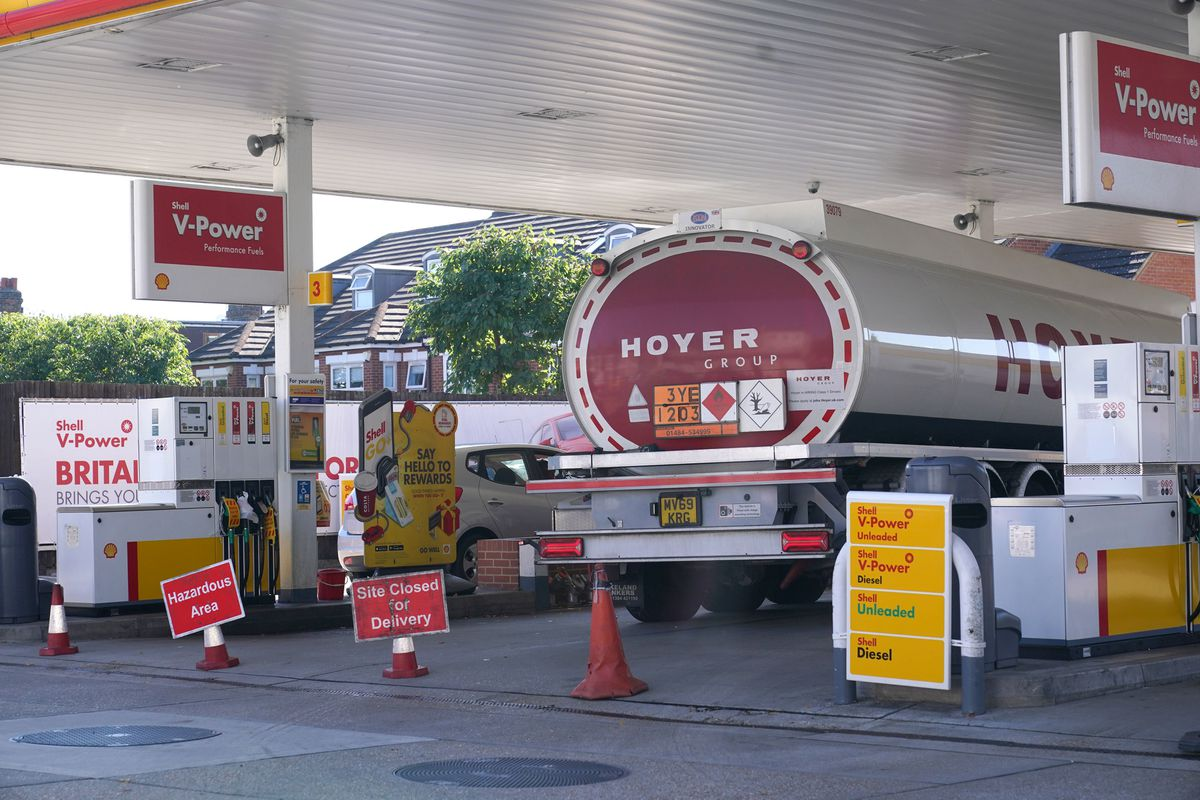 A shortage of lorry drivers has affected the delivery of fuel to forecourts
