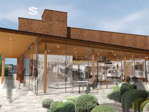 An image of the proposed new Staffordshire History Centre courtyard extension submitted as part of the planning application to Stafford Borough Council