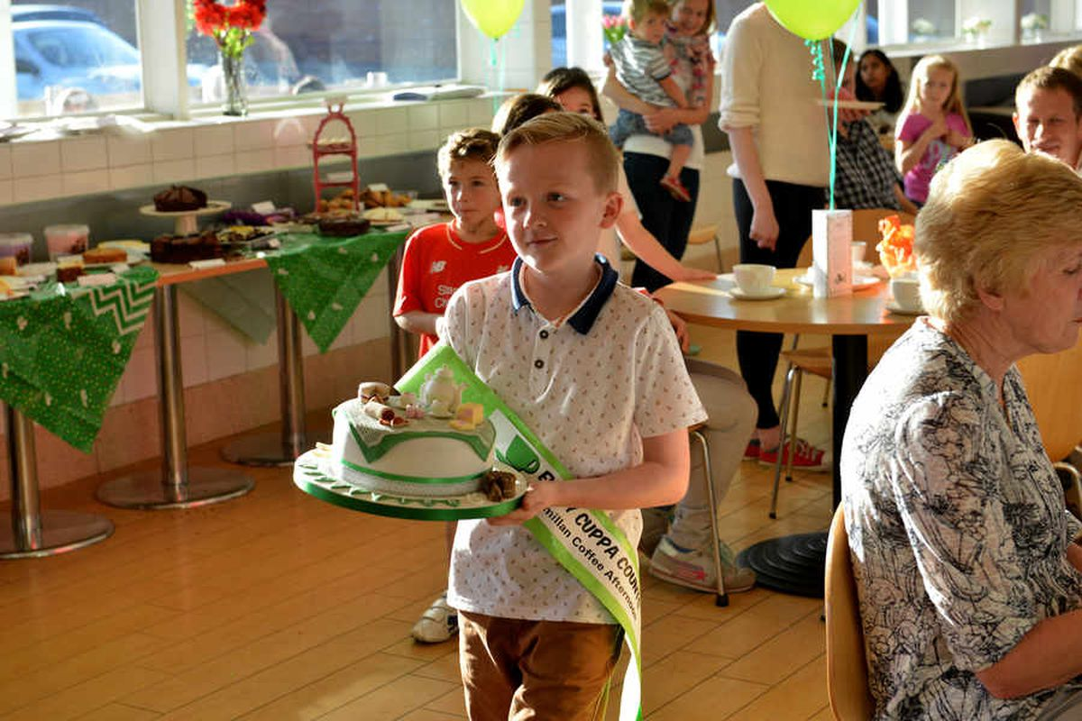 Alfie at the coffee morning