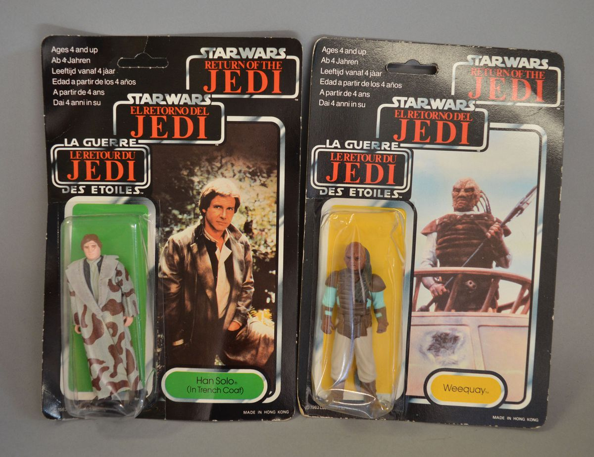 Two Han Solo figures which could fetch at least £120