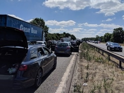 M6 shut for three hours after man dies near Stafford