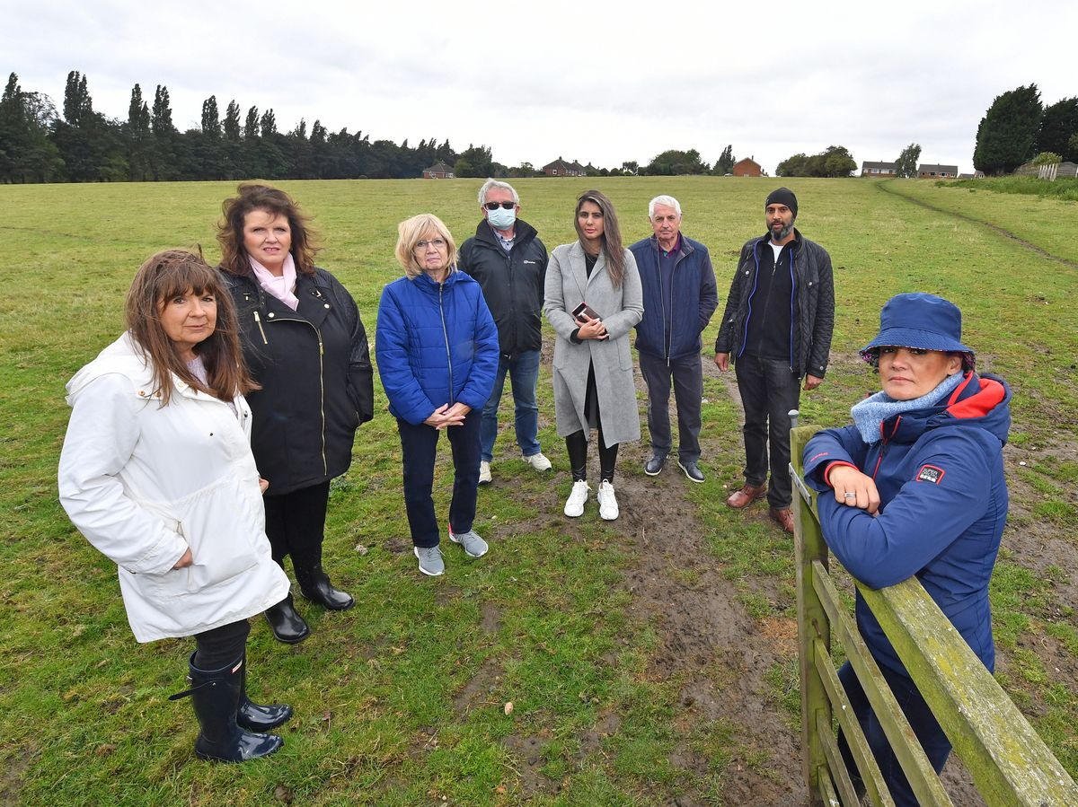 Residents near the Calderfields area of Walsall are against the plans for housing