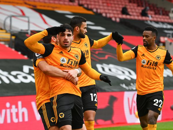 Pedro Neto of Wolverhampton Wanderers celebrates after scoring a goal to make it 1-2 (AMA)