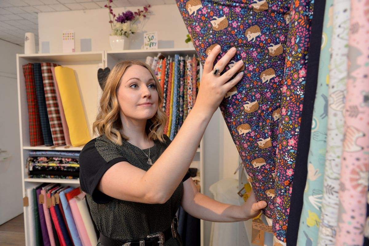 Holly offers a range of fabrics such as cotton, jersey, viscose, corduroy and denim, as well as haberdashery and supplies in a boutique style shop