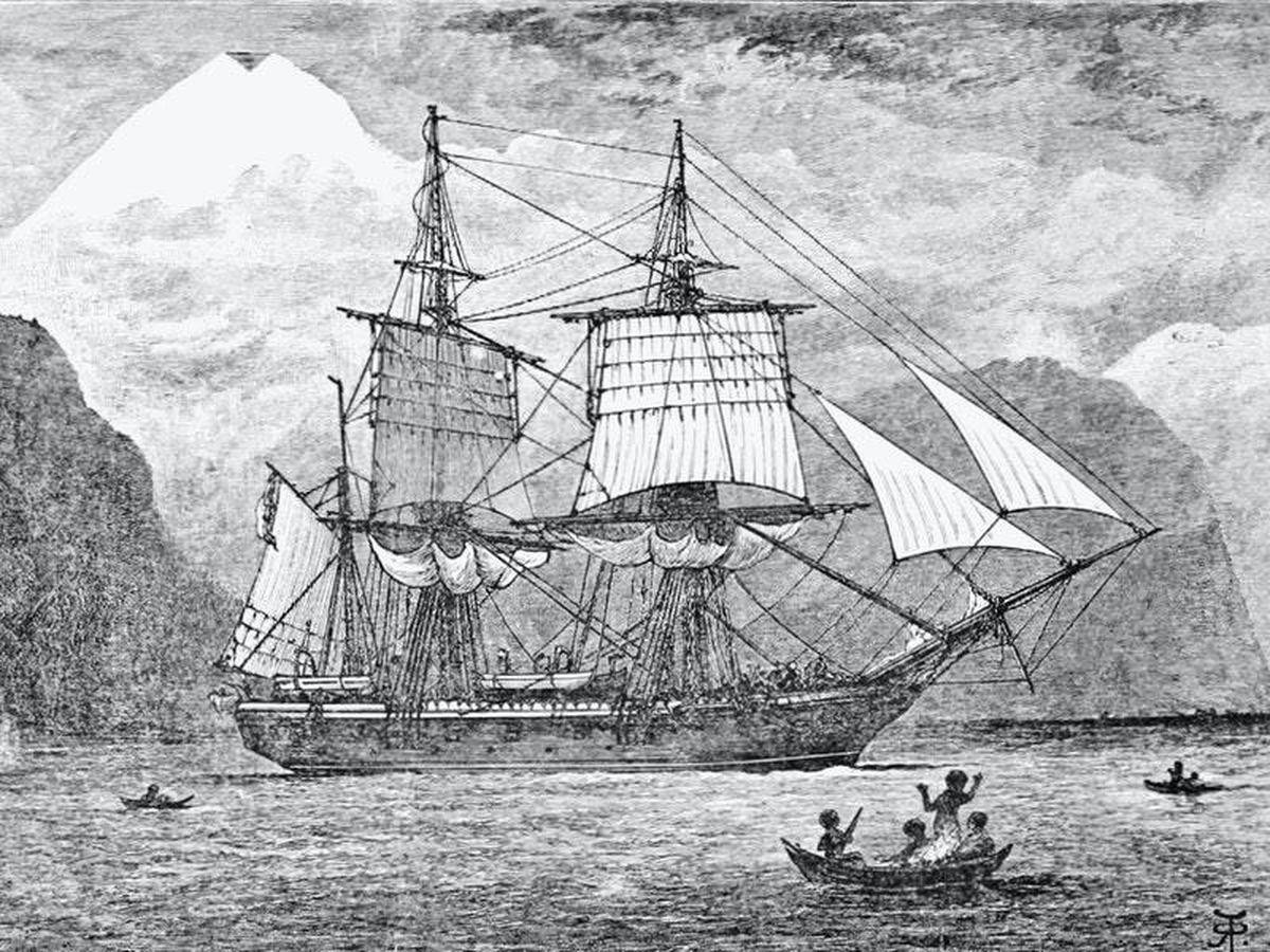 Charles Darwin's ship HMS Beagle