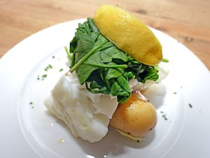 Grilled cod with new potatoes