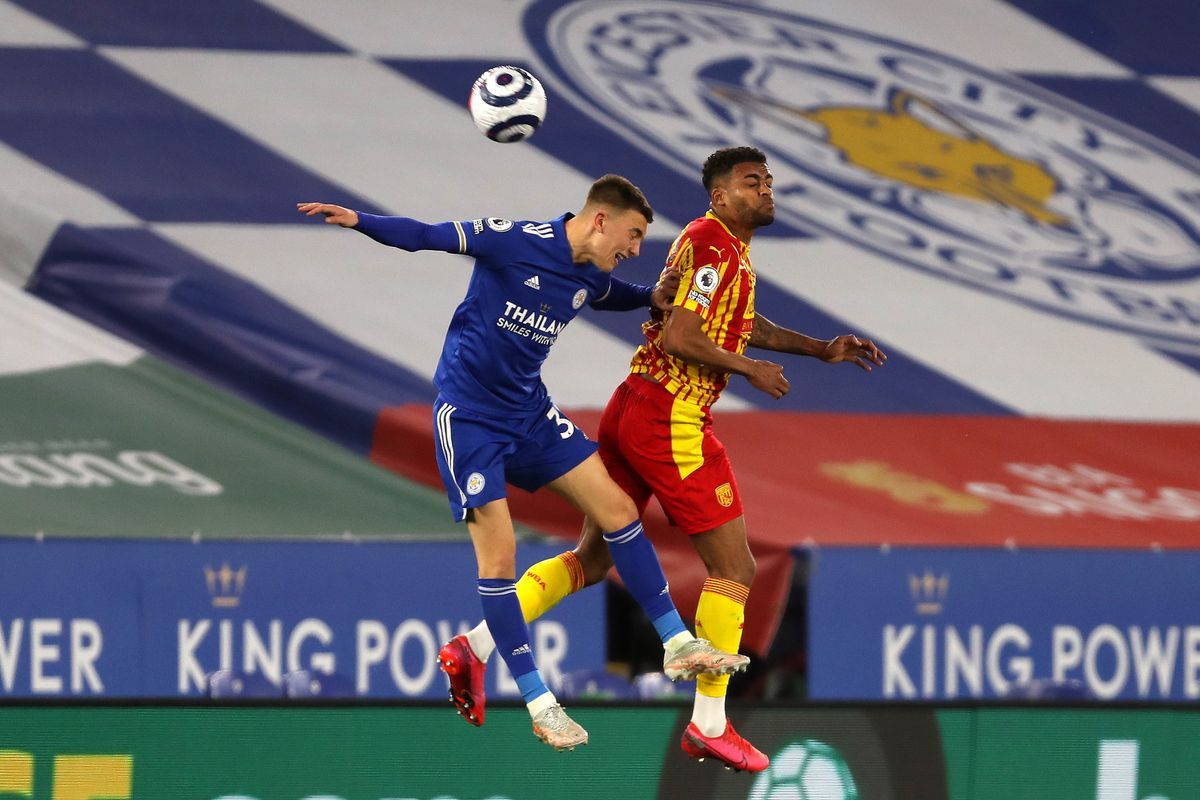Luke Thomas of Leicester City and Darnell Furlong of West Bromwich Albion. (AMA)