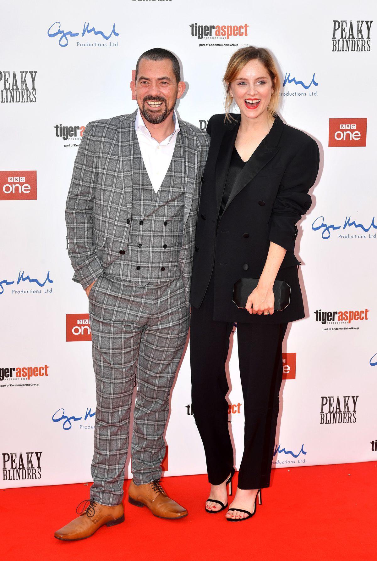 Packy Lee and Sophie Rundle attending the Peaky Blinders Series Five World Premiere held at Birmingham Town Hall