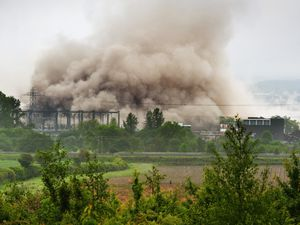 The cooling towers at Rugeley Power Station were demolished