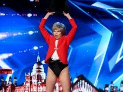 Theresa May impersonator strips off during BGT audition