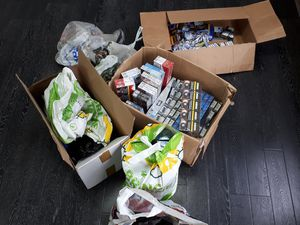 Counterfeit tobacco was seized by officers