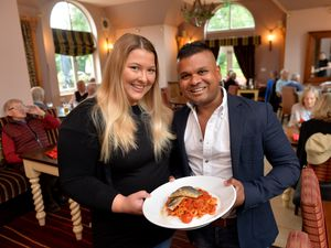 WOLVERHAMPTON  COPYRIGHT TIM STURGESS EXPRESS AND STAR...... 27/08/2020..... The Greyhound, Greyhound Ln, Wolverhampton .feature on Eat Out to Help Out scheme success. Pictured are managers , Frankie Painper and  Rume Manoharan. 07545 994173. ...