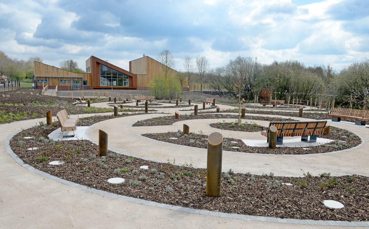 The memorial garden at the newly-completed Cannock Chase Crematorium in Heath Hayes