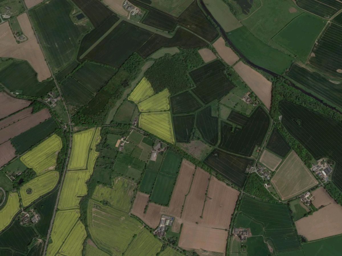 An aerial view showing the countryside around Brookhay Lane. Photo: Google
