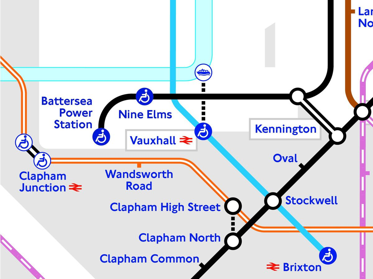 The updated Tube map