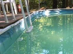 Facebook came to the rescue when a woman got stuck in her swimming pool