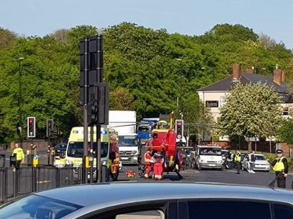 Teenager 'critical but stable' after being hit by ambulance on 999 call