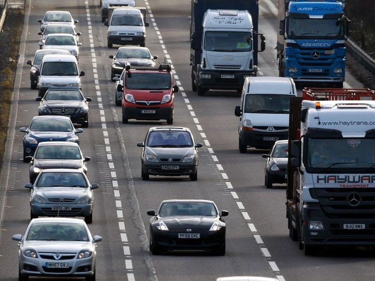 A stock image of traffic on the M6